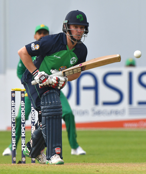Return to action: William Porterfield is looking forward to batting in the UAE again