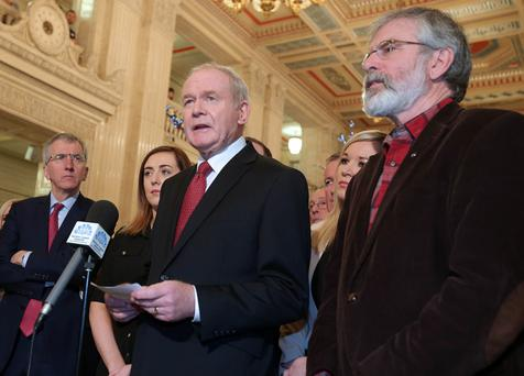 Martin McGuinness resigned his post