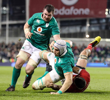 Huge boost: Ultan Dillane (cap) won't miss the Six Nations after receiving good news on the injury he picked up at the Kingspan