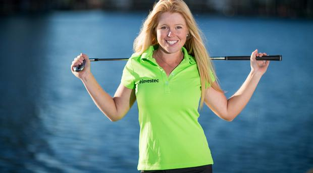 Big boost: Jordanstown ace Stephanie Meadow celebrates her new sponsorship deal with financial services firm Investec