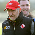 Determined mood: Tyrone boss Mickey Harte