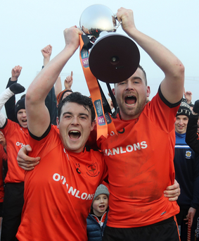 Cup glory: Conor Laverty and Liam Cassley