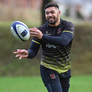Determined: Charles Piutau in Ulster Captain's Run yesterday
