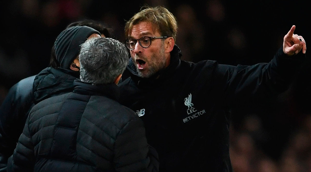 At war: Klopp and Mourinho clash