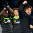 Winning way: Antonio Conte acknowledges the away fans