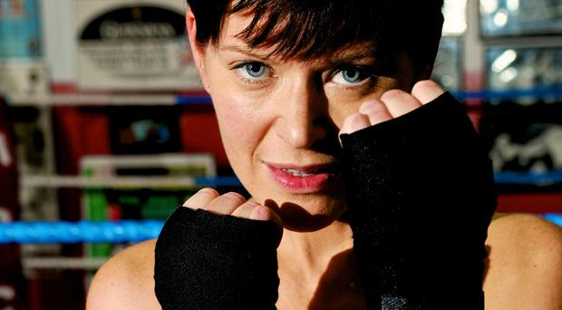Tina Wallace gets ready to take part in The Fight