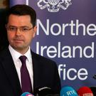 Northern Ireland Secretary James Brokenshire speaking in Stormont House, Belfast where he called a snap Stormont Assembly election for March 2. Niall Carson/PA Wire