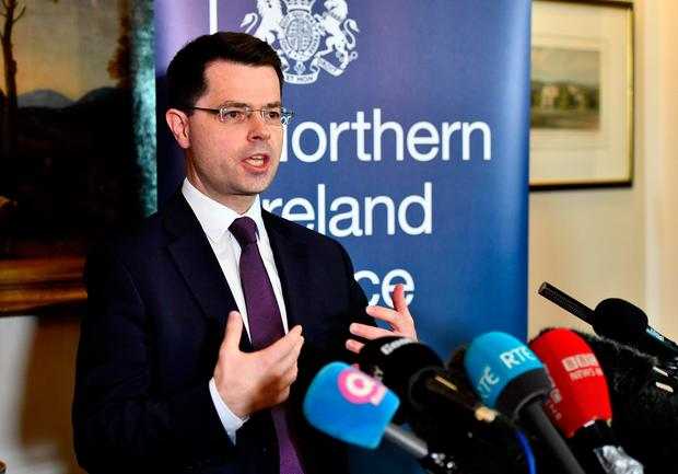 Northern Ireland Secretary of State James Brokenshire holds a press conference at Stormont on January 16, 2017 in Belfast, Northern Ireland. (Photo by Charles McQuillan/Getty Images)