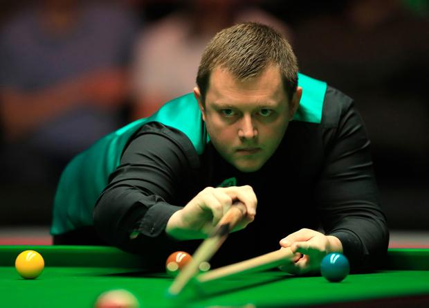 Mark Allen during day two of the Dafabet Masters at Alexandra Palace, London. PA