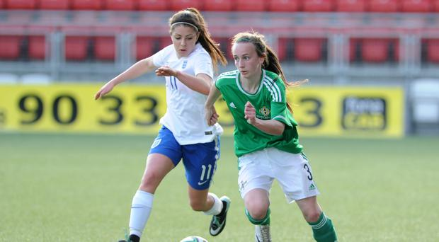 Step up: Northern Ireland's Chloe McGlade could win her first senior cap