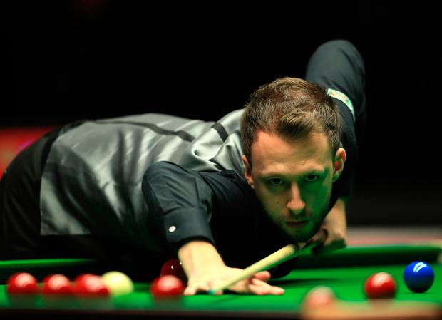 Judd Trump during day three of the Dafabet Masters at Alexandra Palace, London. PA