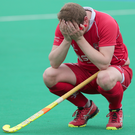 Despair: Keith Black was dejected after relegation