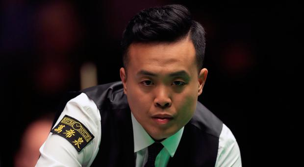 On target: Marco Fu on the way to victory yesterday