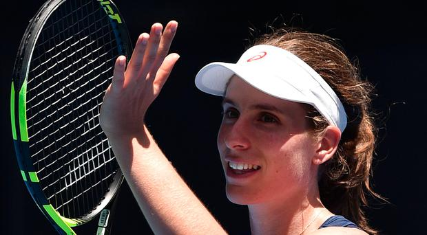 Winner: Johanna Konta after booking place in second round