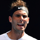 Impressive: Rafael Nadal had no trouble in the first round