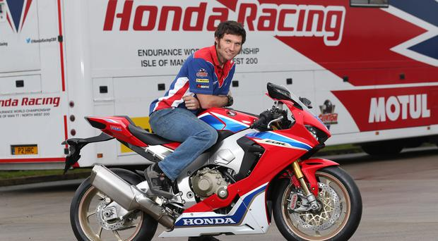 Guy Martin with the new CBR1000RR SP2 Honda Fireblade he will race at the Vauxhall International North West 200 in 2017. Picture by Stephen Davison - Pacemaker Belfast 16/1/2017