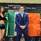 Press conference to announce the professional debut of Ireland's Olympic hero Michael