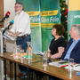 Sinn Fein president Gerry Adams speaks. The party is pushing for an Irish Language Act