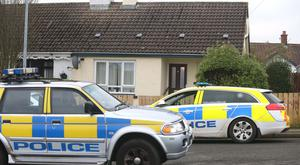 Police at the scene of a sudden death in Carnduff Park, Ballycastle. Pic Steven McAuley/McAuley Multimedia