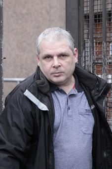 Ballymena man Steven Clarke who put a Samurai Sword to the throat of his ex partner leaves Ballymena Magistrtate Court on Thursday where he was given a suspended jail sentence. Mark Jamieson