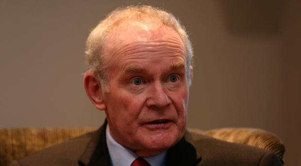 Martin McGuinness during an interview with the Press Association at the Bishop's Gate Hotel in Londonderry, as the former Deputy First Minister announced that he is quitting elected politics to concentrate on recovering from serious health issues.