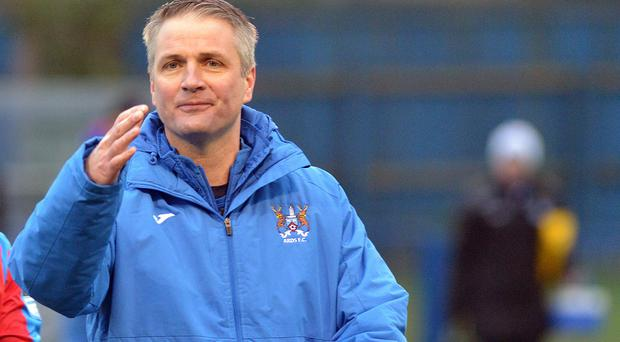 On a mission: Ards boss Colin Nixon