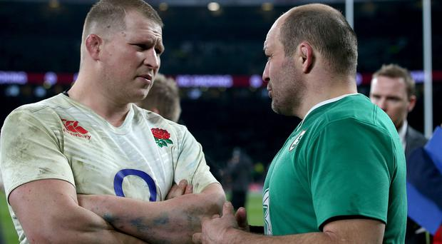 Head to head: Dylan Hartley and Rory Best have scuffled beforewhat's