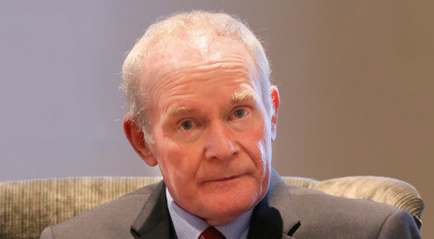 Martin McGuinness announcing his retirement from politics. Photo: Niall Carson/PA Wire