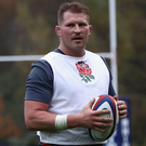 Sidelined: Dylan Hartley is currently serving a ban for striking Sean O'Brien