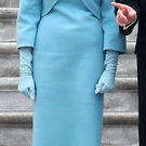 Melania Trump at yesterday's inauguration
