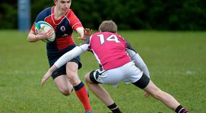Attack minded: Ballyclare's Jack Lewis goes on the offensive