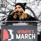 Madonna speaks during the Women's March on Washington on Saturday