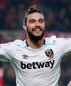 Two goals: Andy Carroll