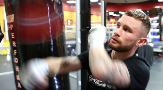 Packing a punch: Carl Frampton works out in his Las Vegas gym