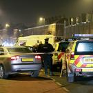 The raid on a house and car in the Newlodge area of North Belfast after the incident