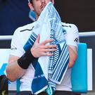Downbeat: Andy Murray had a tough time at the Australian Open