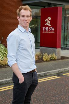 Changed times: Gareth Toner outside the Spa at the Slieve Donald