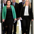 Michelle O'Neill pictured with Martin McGuinness, Mary Lou McDonald and Gerry Adams