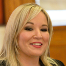 Michelle O'Neill pictured at Stormont yesterday