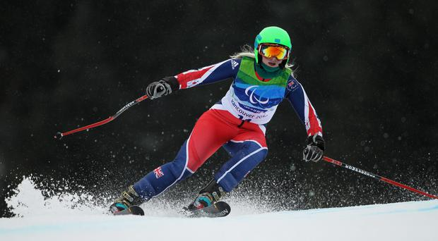 Kelly Gallagher competing for Great Britain in the Winter Paralympics