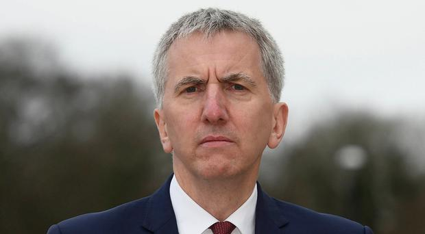 Finance Minister Mairtin O'Muilleoir at Stormont yesterday to deliver his statement on a public inquiry into RHI