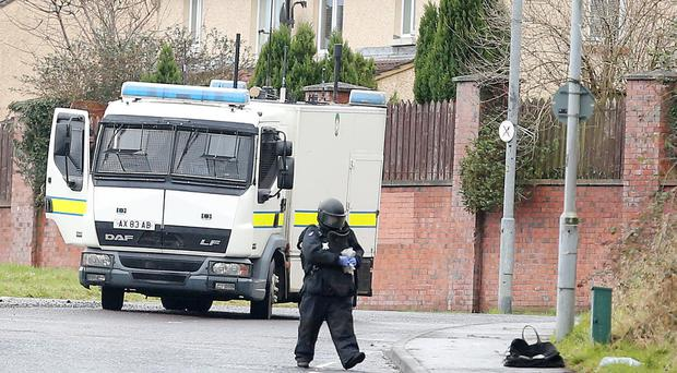 Press Eye Belfast - Northern Ireland 15th January 2017 ATO at the scene on the Brians Well Road in west Belfast Picture by Jonathan Porter/PressEye.com