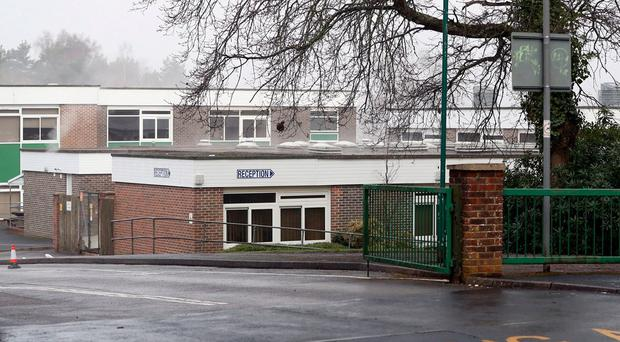Broadstone Middle School near to Poole in Dorset, where police were called over fears that some children had taken cocaine believing it to be sherbert. Pic - Andrew Matthews/PA