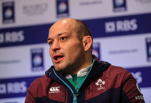 Demanding: Rory Best has told Ireland they must aim higher