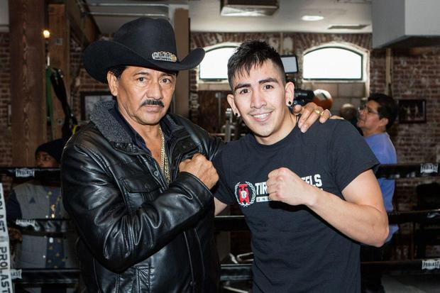 United we stand: Leo Santa Cruz and his father Jose are back together for this fight after Cruz senior's illness