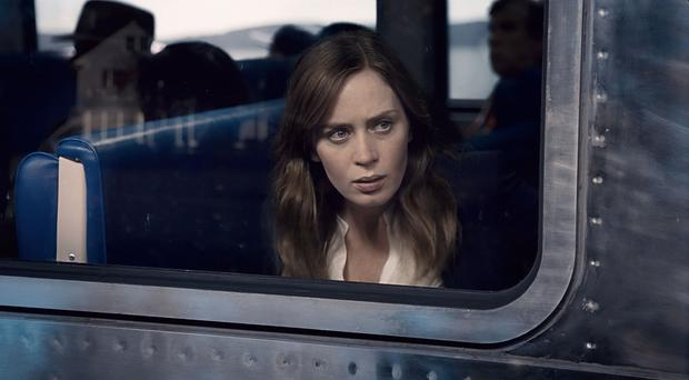 Train wreck: Emily Blunt's character is close to destruction