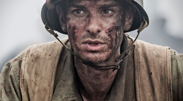 Battle mode: Andrew Garfield in his role as Desmond in Hacksaw Ridge
