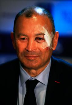Watching brief: Eddie Jones will analyse referee today