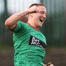 On the up: Stephen McAlorum feels Glens can climb table