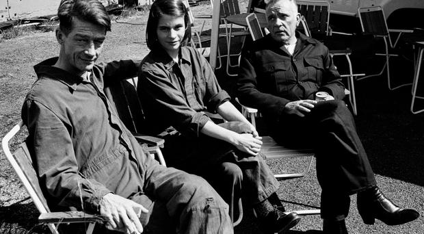 File photo dated 8/6/1984 of Richard Burton (right) with co-stars John Hurt and Suzanna Hamilton on the set of the film, 1984. Photo credit: PA Wire